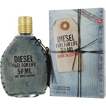 2cda863e Amazon.com : Diesel Fuel for Life Denim Eau De Toilette Spray for Men, 1.7  Ounce : Beauty