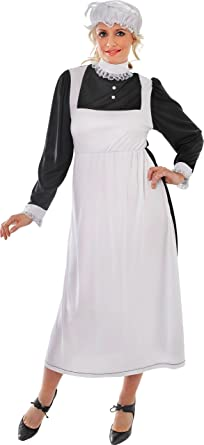 6215d91331b0f Florence Nightingale Adult Womens Christmas Party Victorian Maid Costume  Uk: Amazon.co.uk: Clothing