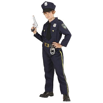 Site officiel prix fou premier coup d'oeil Widmann 76556 – Costume de Policier pour Enfant : Chemise, Cravate,  Pantalon et Casquette
