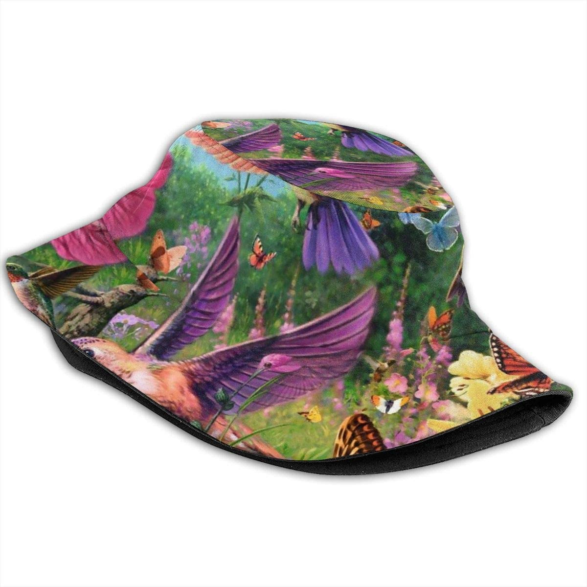 Unisex 100/% Polyester Hummingbird Mesh Cap Breathable Snapback Hat for Unisex