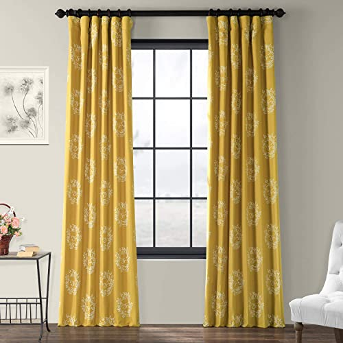 HPD Half Price Drapes PRTW-D11-108 Printed Cotton Curtain 1 Panel