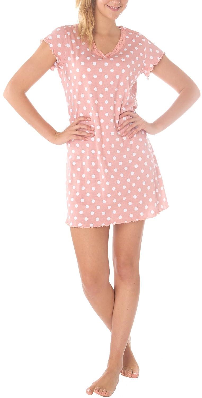 80cbeeaf412d8a Consult-Tex Damen Kurzarm Nachthemd Baumwolle Tupfen DW888: Amazon.de:  Bekleidung