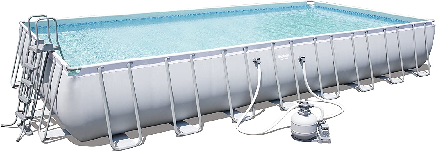 Bestway Power Steel Rectangular Frame Pool – Juego de Piscina ...
