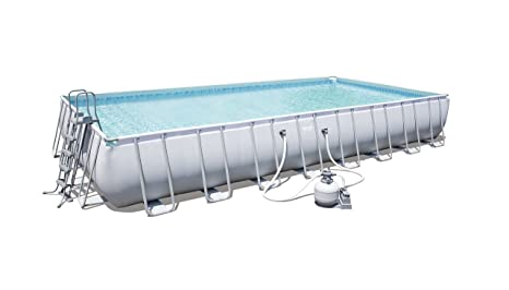 Bestway Power Steel Rectangular Frame Pool – Juego de Piscina Rectangular de Estructura de Acero Reforzado