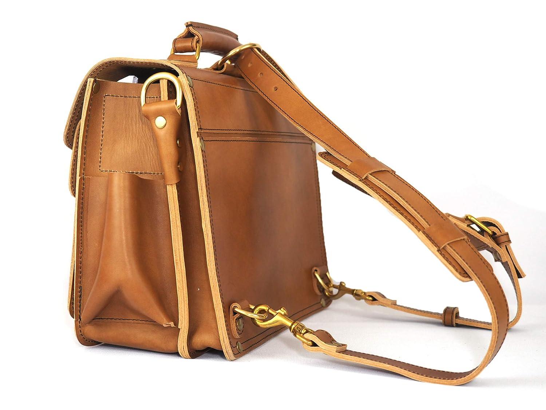 Marlondo Leather Wing Briefcase Mens Handmade Leather Satchel for Laptops Handmade Leather Messenger Bag