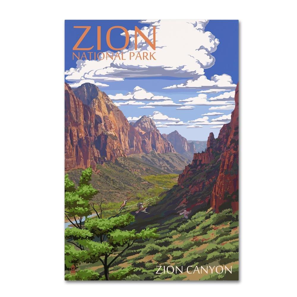 Trademark Fine Art Landscape 7 by Lantern Press, 16x24 Canvas Wall Art