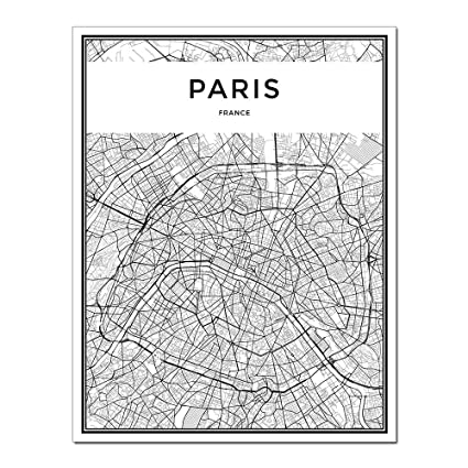 Amazon Com Dunhuangart Framed Wall Art Linear City Map Painting