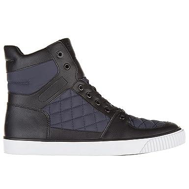 Emporio Armani Men s Scarpe Sneakers alte Uomo Nuove Trainers Blue Blue  Blue Size  ... 1d708379b09