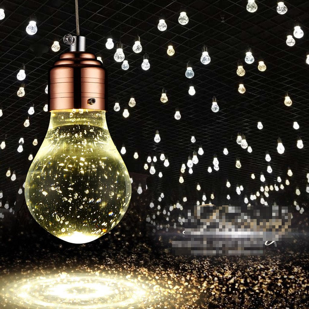 Lámparas de araña GAOLILI Restaurante Candelabros Restaurante Moderno Minimalista Bar Restaurante Candelabros Café Bar Lobby Obras Crystal Chandeliers Bubble Column Crystal 5W (Color : 1/pcs) fb40ec