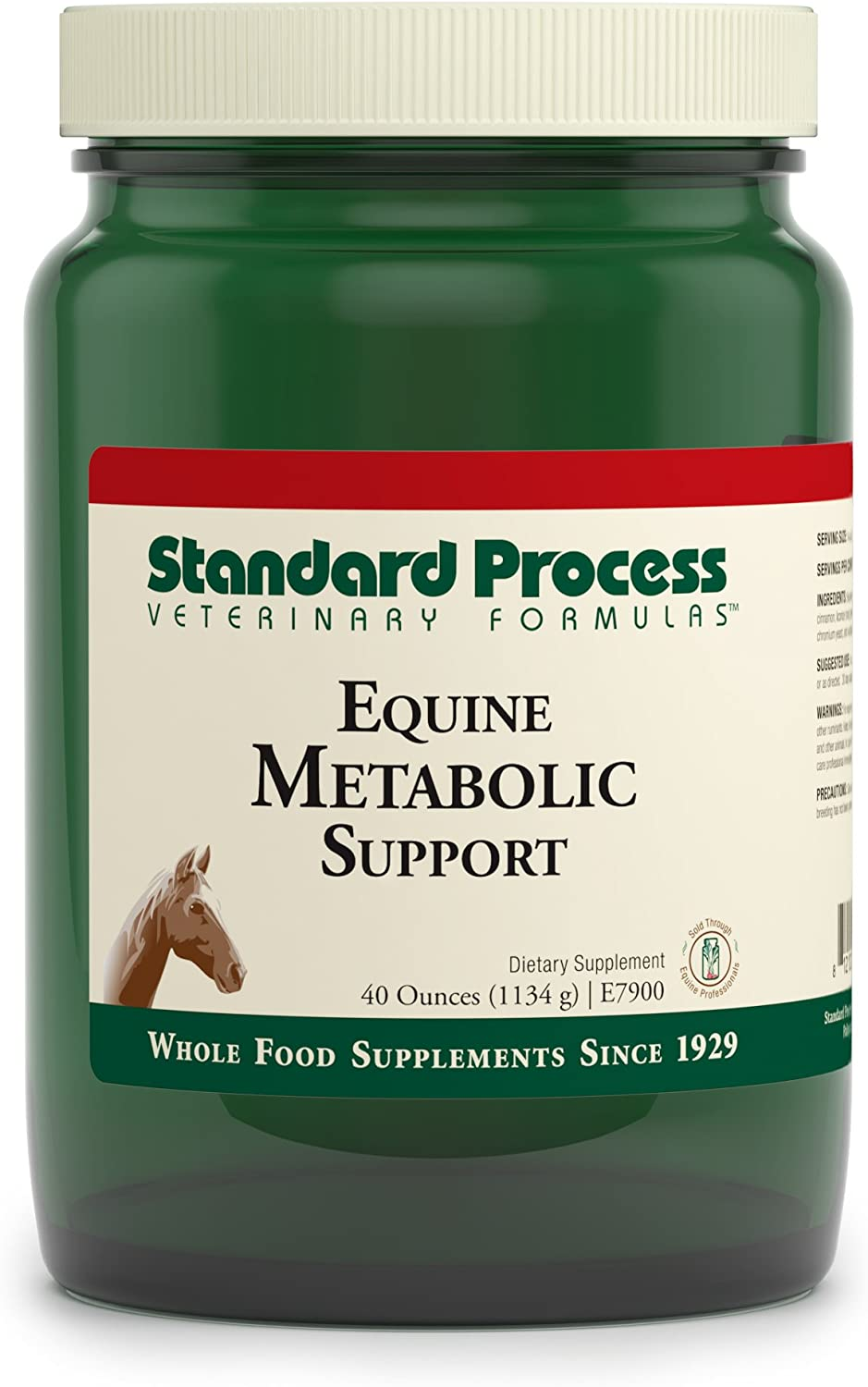 Standard Process Equine Metabolic Support - Whole Food Horse Supplies for Glucose Metabolism and Antioxidant Activity with Green Tea Extract, Cayenne Pepper, Licorice Root - 40oz