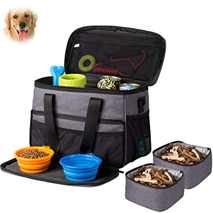 416b11b37d5e Hilike Pet Travel Bag for Dog Cat -Weekend Tote Organizer Bag for Dogs  Travel -Incudes1