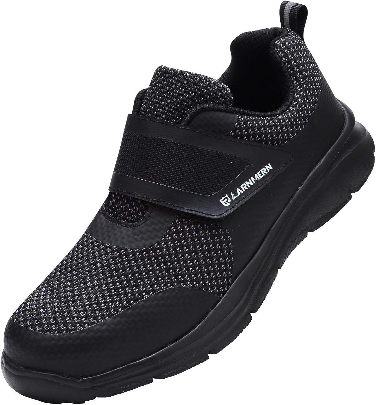 LARNMERN Sicherheitsschuhe Herren Stahlkappe Arbeitsschuhe S1 Antistatisch SRC rutschfest Bequem Industrie Sneaker Schutzschuhe