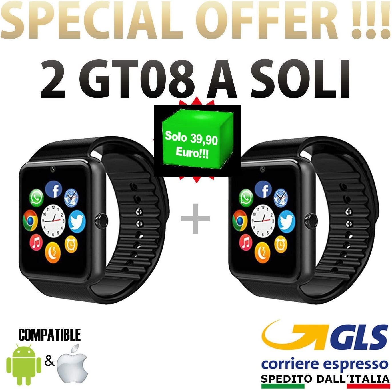 PCJOB 2 Smartwatch Android iOS Smart Watch Teléfono Touch con SIM ...