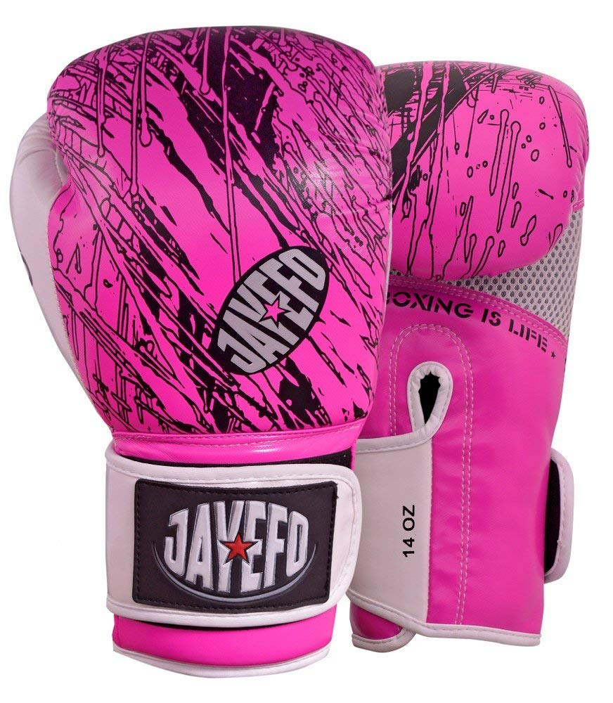 Jayefo High Performance Leather MMA Grappling Gloves Punch Bag Kick Muay thai