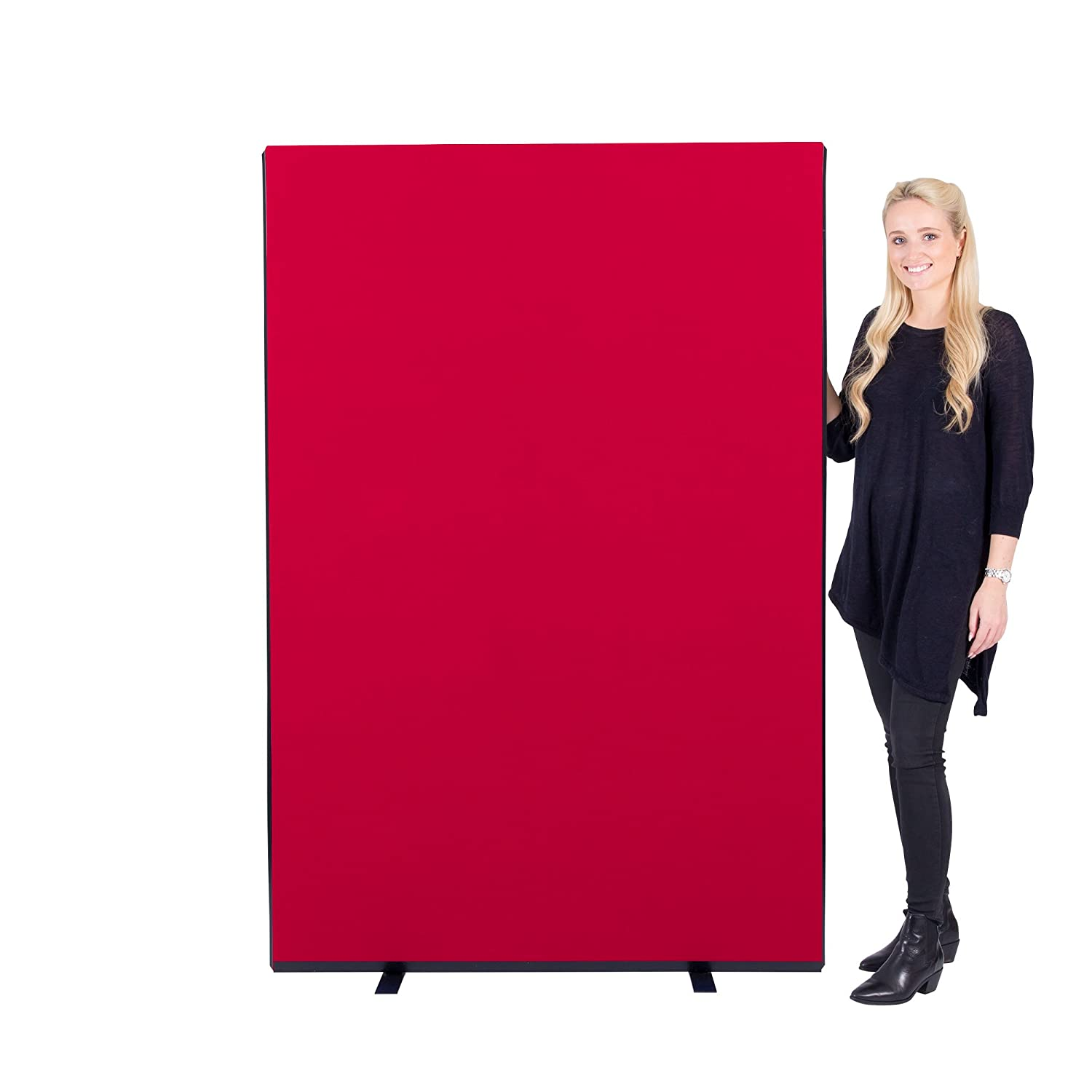 Panelwarehouse 1200mm Wide Woolmix Office Partition Screen (Black, 1200mm W x 1200mm H) - 3 Heights & 11 Colours
