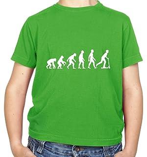 109e995e Evolution of Man Micro Scooter Rider - Childrens/Kids T-Shirt - 8 Colours