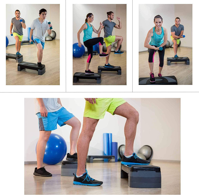 Bloque de goma ajustable para step, de XN8, para ejercicios de ...