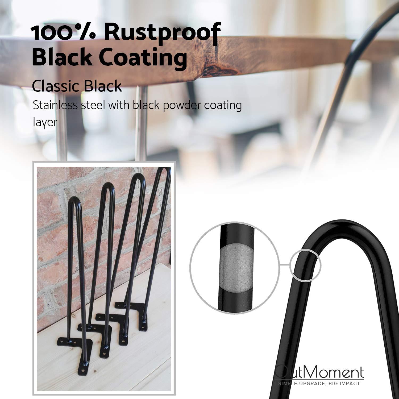 4/x mid-century Modern Style DIY 2/rod mobili gambe con free Protector piedi e viti per tavolo da pranzo tavolino Bench Outmoment forcina gambe del tavolo