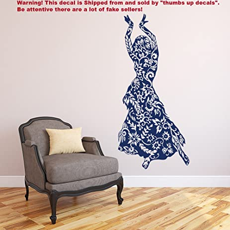 Belly Dance Wall Decal Vinyl Sticker Decals Belly Dancing Wall Decals Girls  Wall Decor Dance Studio