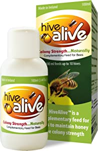 HiveAlive - Bee Feed Enhancer for Beekeeping Improves Honeybee Health & Winter Survival Increases Colony Population & Honey Production Liquid Bee Hive Feed - 100ml