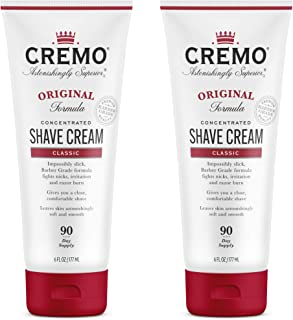 product image for Cremo Barber Grade Original Shave Cream, Astonishingly Superior Ultra-Slick Shaving Cream Fights Nicks, Cuts and Razor Burn, 6 Oz (2-Pack)