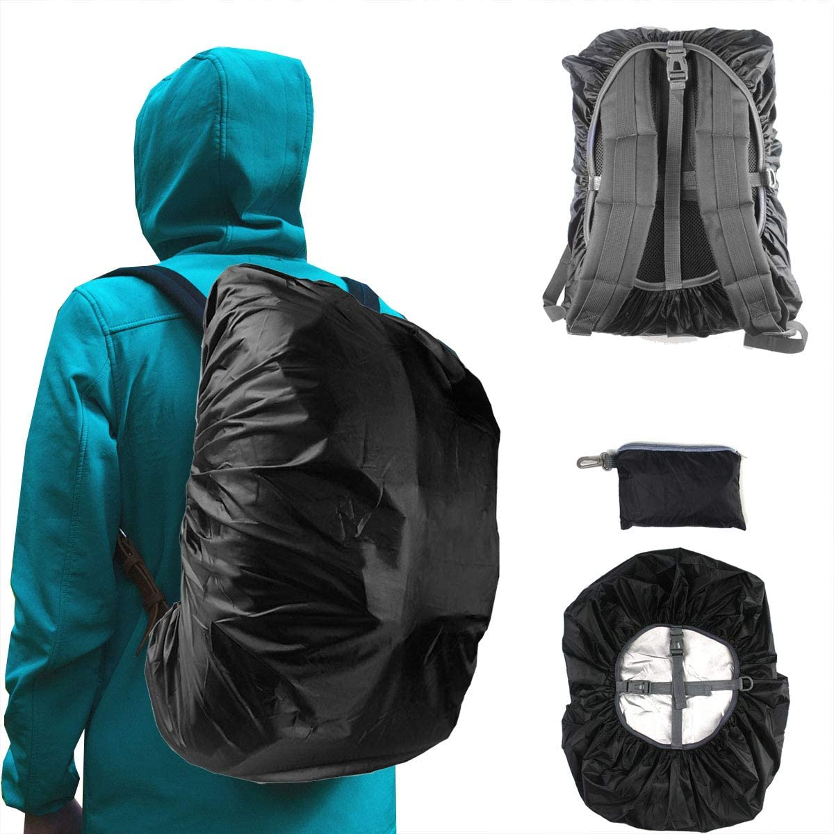 Frelaxy Waterproof Backpack Rain Cover, 2020 Upgraded Triple Waterproofing, Antislip Cross Buckle Strap, Ultralight Compact Portable, for Hiking, Camping, Biking, Outdoor, Traveling