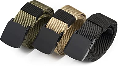 Men Nylon Canvas Breathable Military Tactical Waist Belt With Buckle