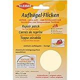 Kleiber - Parche de reparación termoadhesivo, de algodón, 40 x 12 cm, para telas de tejido fino, color crema