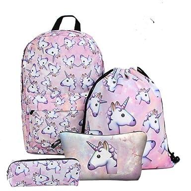 Amazon Com Giddah Unicorn Printing Cosmetic Bags Backpack With