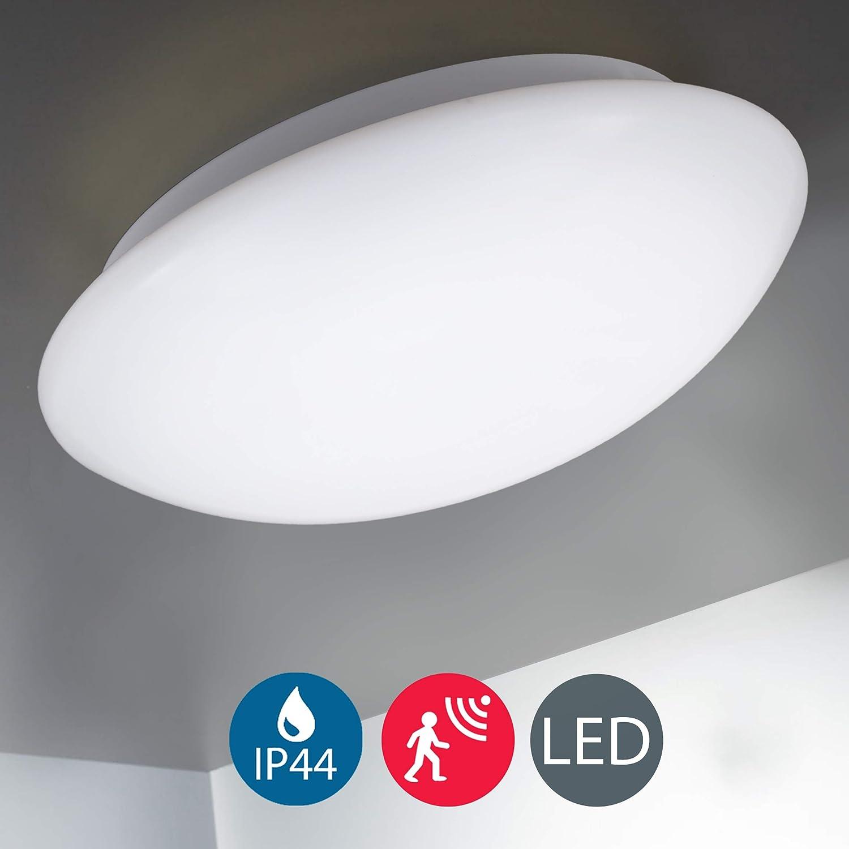 15W Plafón con Sensor de Movimiento para baño LED Ø28cm I Lámpara ...