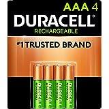 Duracell Pilas Recargables AAA Pilas Pre-cargadas con 900 mAh hasta 100 Recargas Incluye 4 Pilas