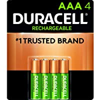 Duracell - Rechargeable AAA Batteries - long lasting, all-purpose Triple A battery...