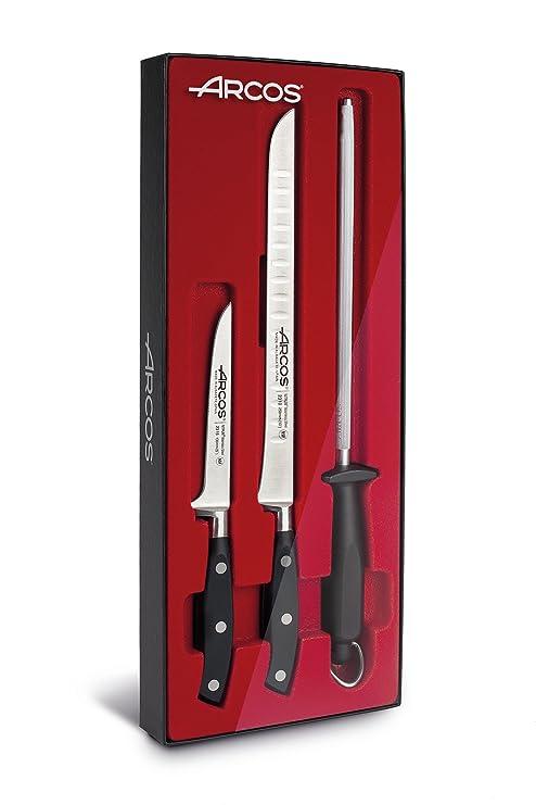 Arcos 806900 Set 3 Piezas, Acero Inoxidable, Negro, 50x20x5 cm, 3 Unidades