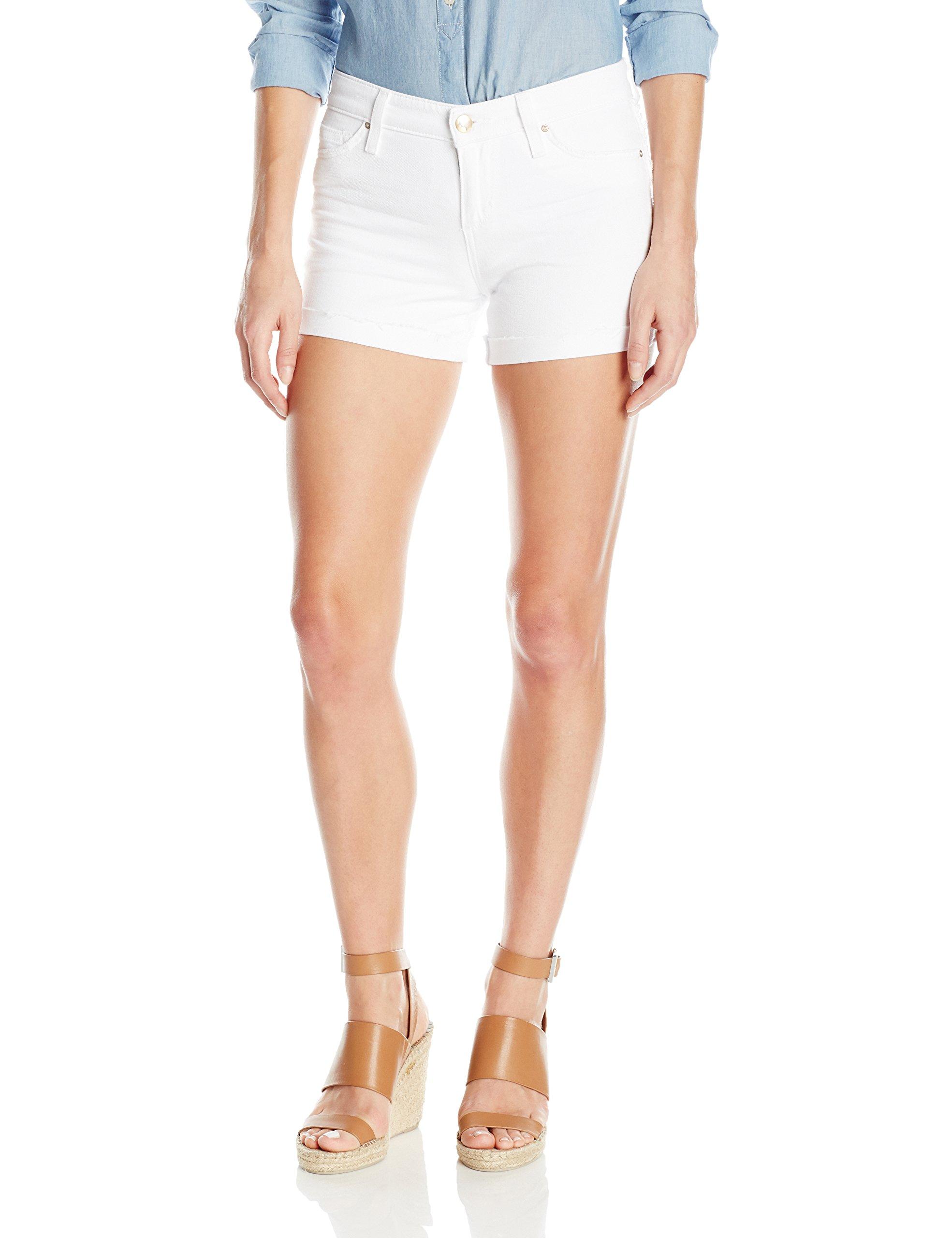 Joe's Jeans Women's Turn up Cuff White Short, Kerri, 25 by Joe's Jeans