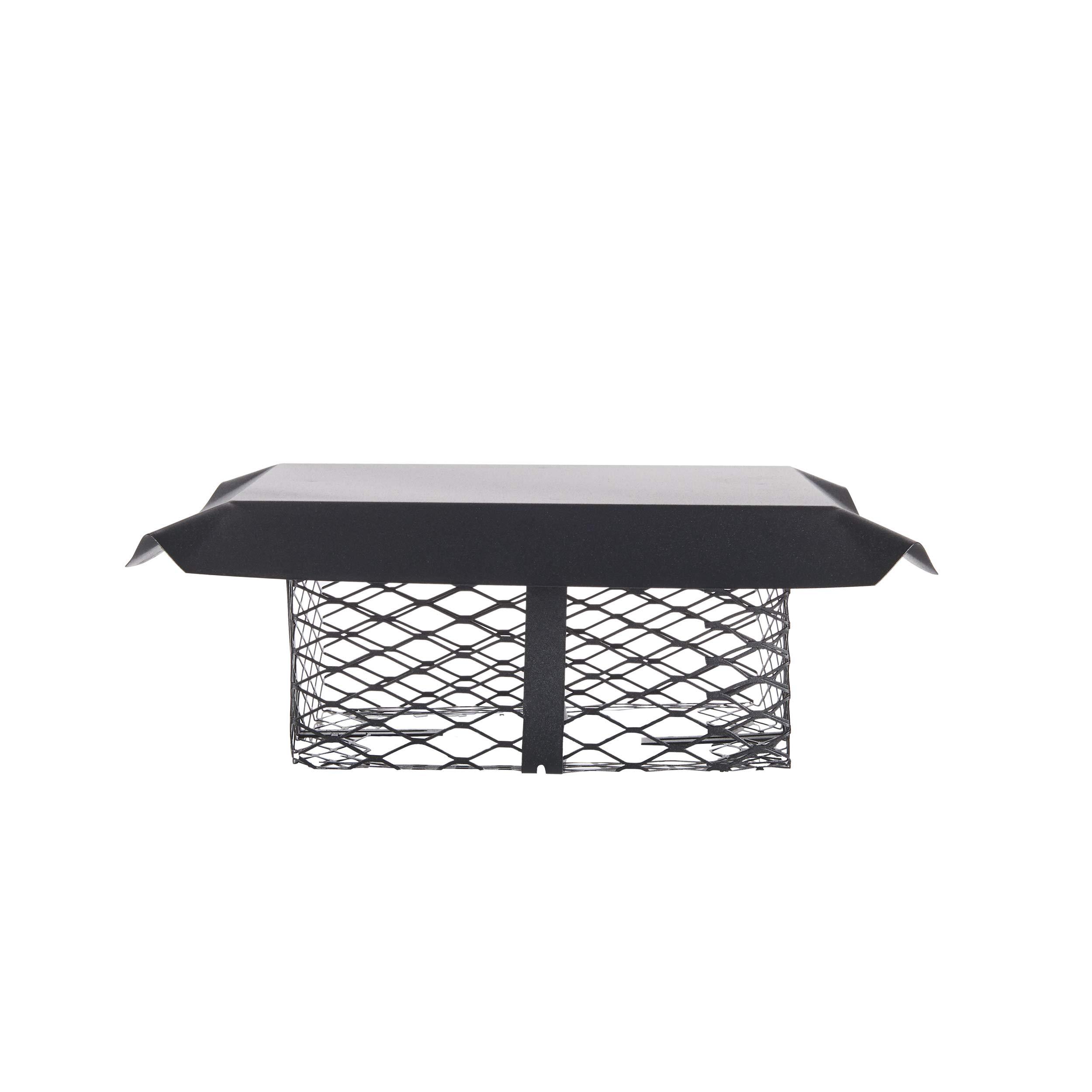 Shelter SCADJ-S Adjustable Clamp On Black Galvanized Steel Single Flue Chimney Cap by Shelter
