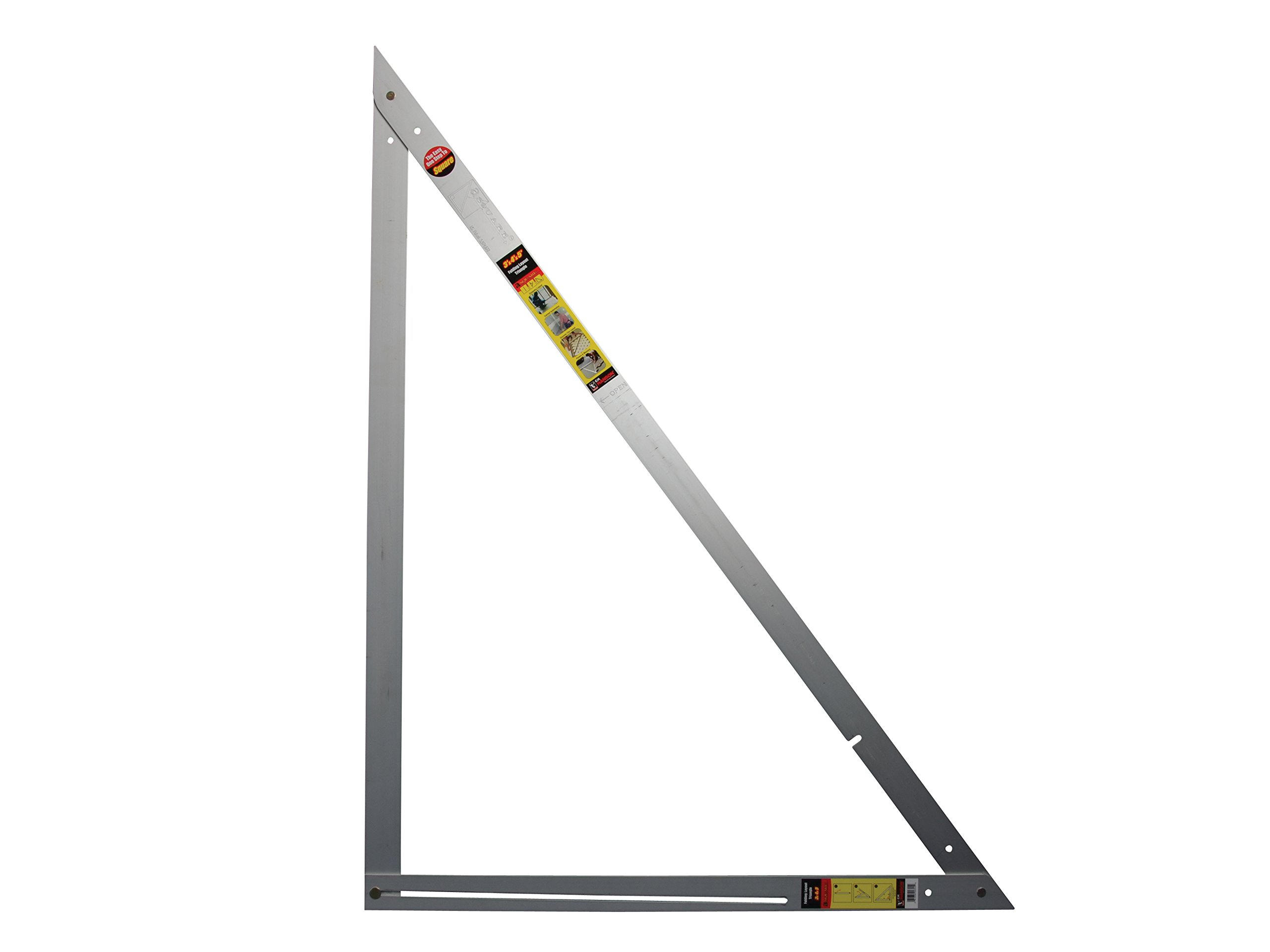CH Hanson 3 ft. x 4 ft. x 5 ft. 90 degree Aluminum Folding Layout Asquare
