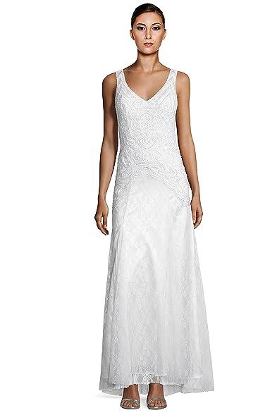 Amazon.com: Sue Wong Sleeveless Beaded Embellished Lace Mermaid ...