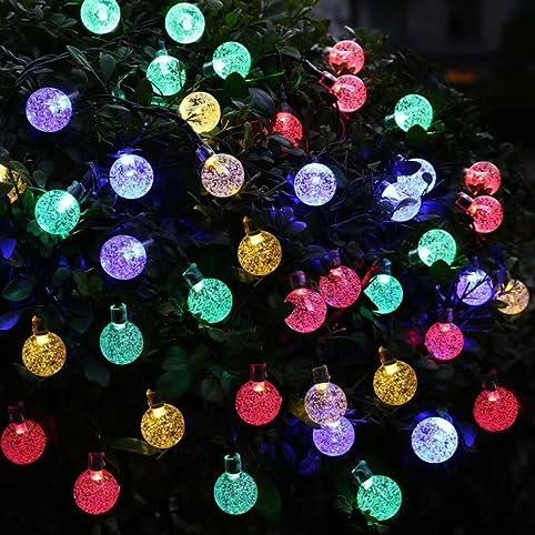 Annengjin 30 led solar powered fairy lights outdoor christmas tree annengjin 30 led solar powered fairy lights outdoor christmas tree lights white crystal globe ball mozeypictures Choice Image