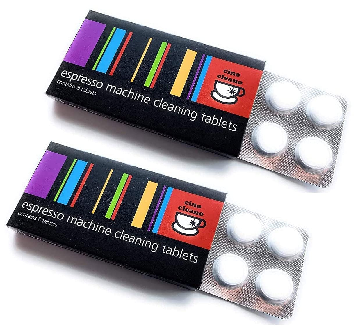 Cino Cleano Espresso Machine Cleaning Tablets, for Breville Espresso Machines, Descaling Tablets for Baristas (Pack of 2, 16 Tablets)
