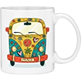 Mugvana Hippie Peace Bus Gift Coffee Mug (11oz)