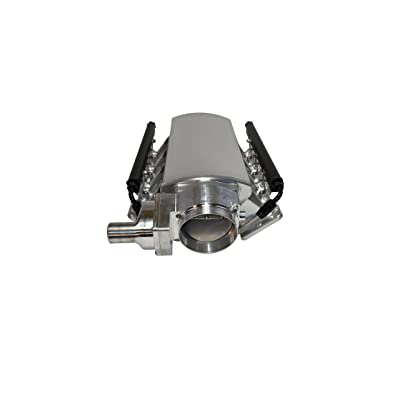 A-Team Performance Intake Manifold Drive By Wire Throttle Body Metal Sheet Fabricated Black EFI 15° Throttle Opening Compatible with Chevrolet GMC Pontiac LS LS1 LS2 LS6 Silver 102mm: Automotive