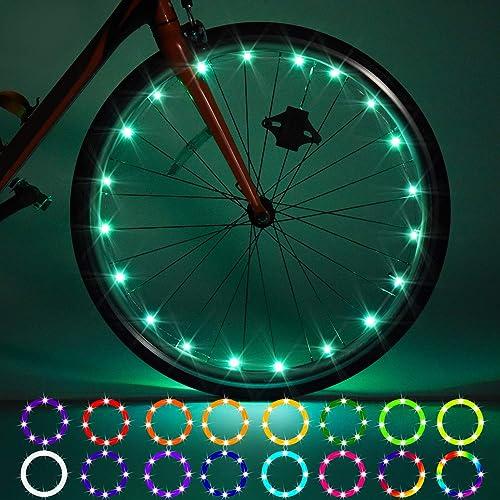 2 Pack LED Bike Wheel Lights, Remote Control Bicycle Tire LED Light