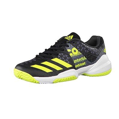 adidas Counterblast Falcon J, Chaussures de Tennis Mixte Enfant, Noir ( Negbas/Amasol
