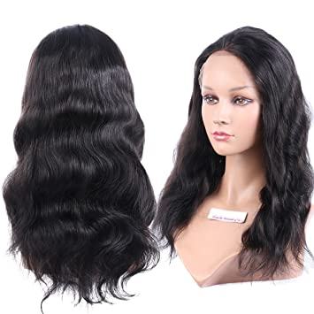 Amazon.com : Black Beauty Wig 13A Natural Wave Wig Brazilian Human ...