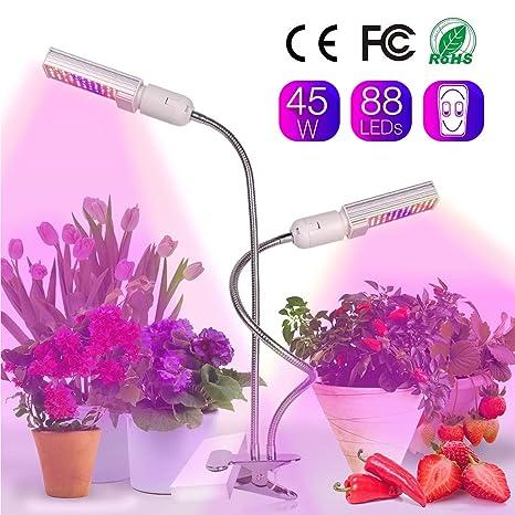 Relassy 45w Lampe Pour Plante 88 Led Lampe De Croissance Double