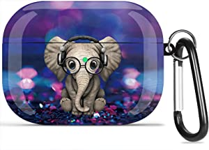 Airpods Pro Case, Olytop Cute Elephant Air Pods Pro Cover Accessories Compatible with Apple Airpods Pro 3rd,Shockproof Protective Case Cover for Girls Women with Keychain Elephant