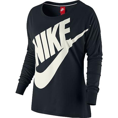 98ca4798 Nike Signal Long-Sleeve Women's T-Shirt Black/Sail 545463-010 (Size ...