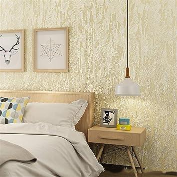 Wfklll Vliestapete Schlafzimmer Wohnzimmer Wandtattoo Tv Tapete Uni Tapete Khaki Amazon De Baumarkt