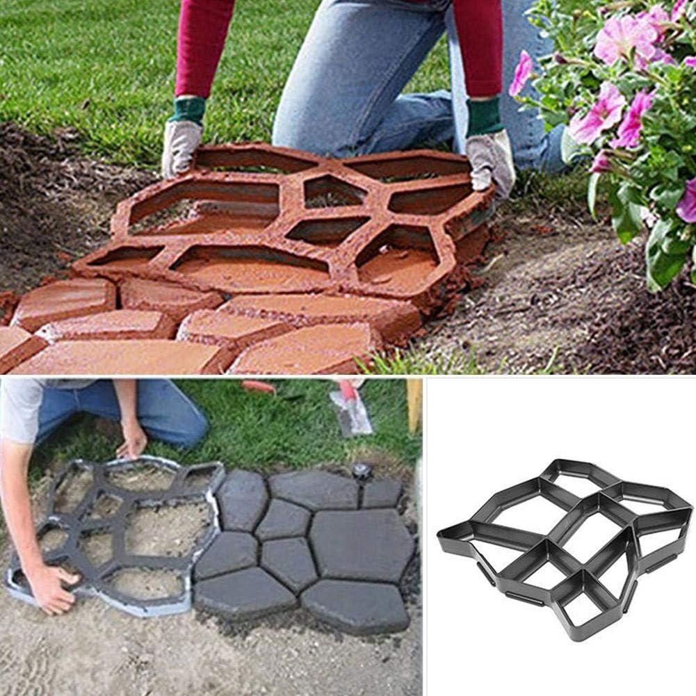 Moule de Pavage de Jardin Walk Maker Moule de Sol en Plastique Moule de Carrelage yestter Moule de Sol de Personnalit/é Bricolage