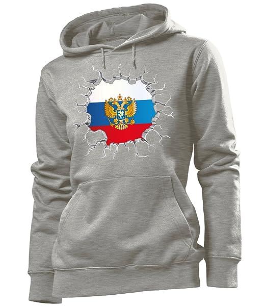 love-all-my-shirts Fussball Russland Fanhoodie Frauen Damen Hoodie Pulli Kapuzen Pullover Fanartikel Kapuzenpullover
